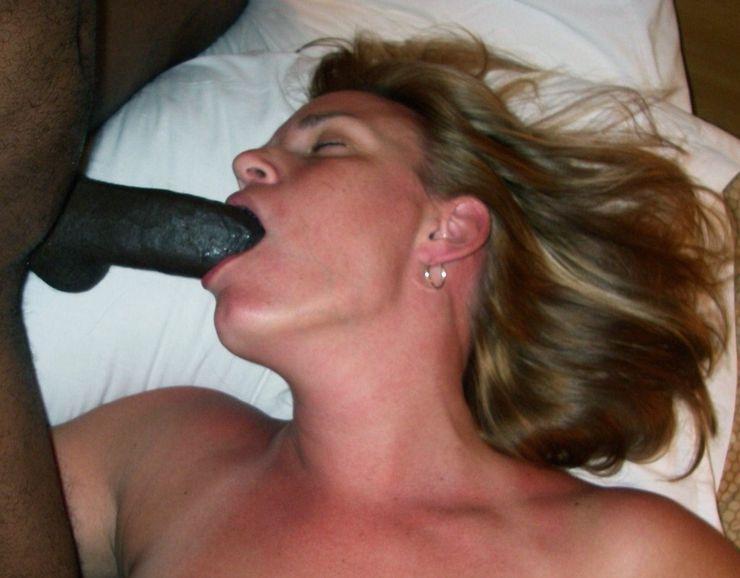 White Milf Swallows Black Cum