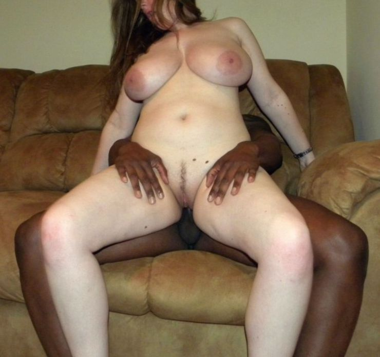 Busty Married Wife Riding a Big Black Dick